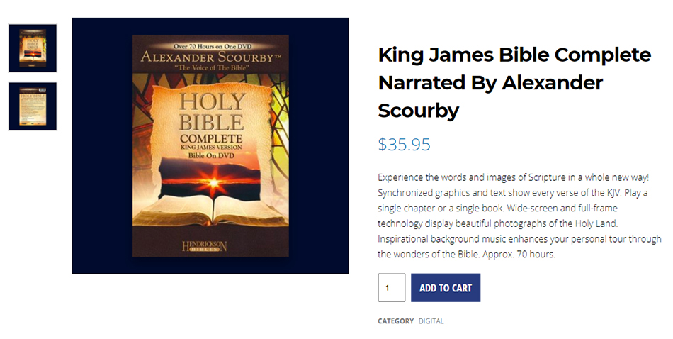 King-James-1611-Holy-Bible-Complete-Narrated-By-Alexander-Scourby-NTEB-Believers-Christian-Bookstore-Saint-Augustine-Florida