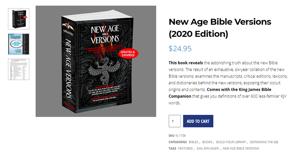 new-age-bible-versions-gail-riplinger-king-james-only-nteb-niv-esv-nteb-christian-bookstore-saint-augustine-florida