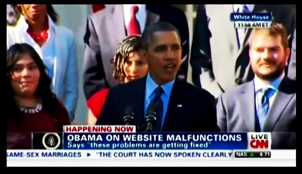 fainting-woman-in-white-house-rose-garden-fake-fraud-obama-lies-obamacare-speech