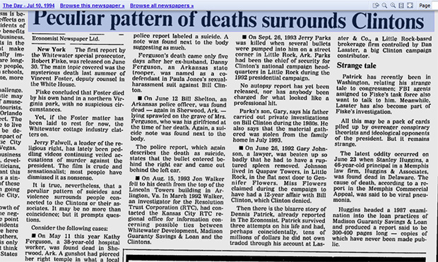 hillary-clinton-death-list-unexplained-suicides-2016-vince-foster-ron-brown