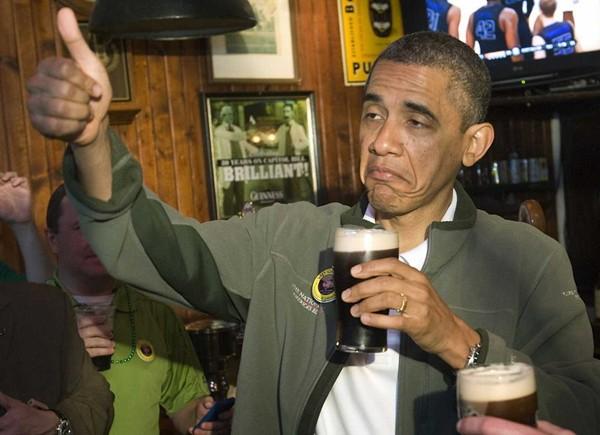 obama-getting-drunk-on-saint-patricks-day-syria-crisis-amateur-hour